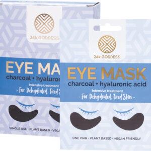 24K GODDESS Eye Mask Dehydrated Tired Skin - Charcoal x10