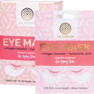 24K GODDESS Eye Mask Aging Skin - Collagen Booster x10